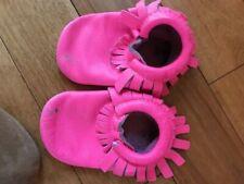 Fp Freshly Picked Girls Moccasins sz 6 Hot Pink