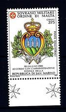 SMOM - 1991 - Convenzione postale con la Repubblica di San Marino