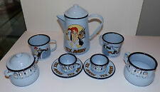 TEX AVERY DEMONS AND MERVEILLES COMPLETE 1996 TEA SET DROOPY RED HOT