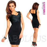 New Womens Sexy Knit Bandage Mini Dress Size 6 - 12 Party Clubbing Evening Wear