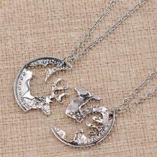 925 plata esterlina Sika Ciervo Colgante Collar Mujer Bisutería DZ284