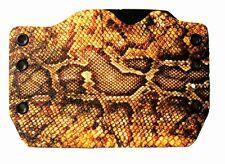 1911, Beretta, Bersa, Browning, Yellow Snake Skin Print, OWB Kydex Gun Holsters