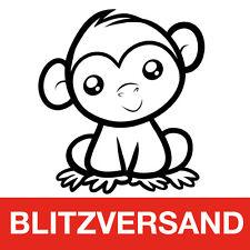 Adesivo Auto Sticker SWEET Monkey AUTO STICKERS Scimmia Carino Top