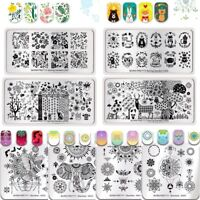 BORN PRETTY Nail Art Stamping Plates Mandala Spring Garden Image Stamp Templates