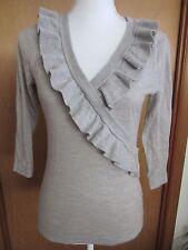 women's grey sweater size S Banana Rebublic 100% merino wool