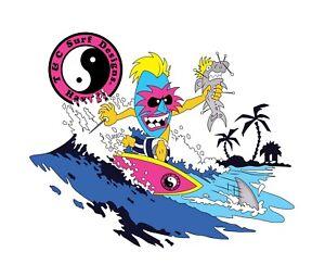 Town Country Surfboards STICKER Hawaii TIKI Surfing STICKER T&C HAWAII DECAL