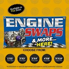 Engine Swaps Amp More Here Open Sign Display Auto Mechanic Shop Repair Service Fix