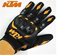 GUANTES DE MOTO DE DEDO COMPLETO KTM - Color Naranja - Tallas S M L XL XXL