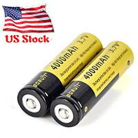 2PCS 4000mAh 18650 Li-ion 3.7V Rechargeable Genuine Boruit Battery USA Stock