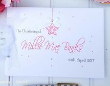 WITH BOX - BABY- STAR - CHRISTENING - NAMING DAY- GUEST BOOK-SCRAPBOOK-