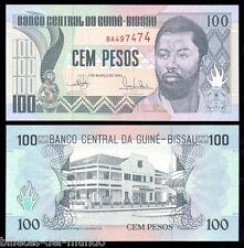 B-D-M GUINEA BISSAU 100 PESOS 1990 PICK 11 SC UNC