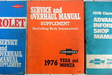 1976 CHEVROLET VEGA MONZA SERVICE AND  OVERHAUL MANUAL SUPPLEMENT + BODY