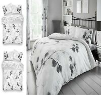 Luxurie HONESTY LEAF Printed Reversable Duvet Cover+PillowCase Bed Set All Size