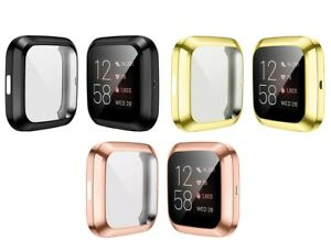 for Fitbit Versa 2 Screen Protector Case TPU All-Around Protective Bumper