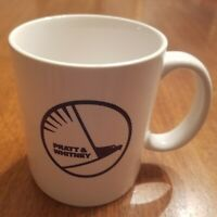 VINTAGE PRATT & WHITNEY AIRCRAFT COFFEE MUG. CLEAN AND GLOSSY