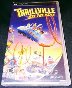 Thrillville: Off the Rails Sony PSP 2007 Original Black Label Y-Folds NEW SEALED
