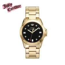 Juicy Couture Stella Watch Women's Crystal Authentic Stainless Steel Gold NIB