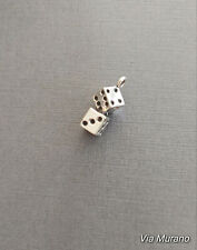 Limited edition sterling silver dice charm measuring 15mmx10mm. 2.97gr.