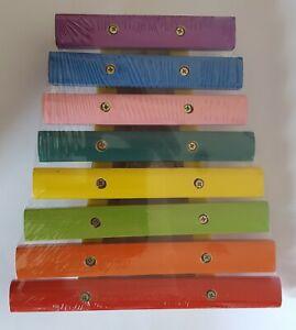 Xylophon aus Holz mit 8 farbigen Klangplatten für Kinder