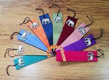10X Silk Bookmarks Elephant Aluminium Craft Thailand Handmade Book Maker