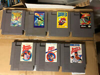 Lot Of 7 NES Nintendo Entertainment System Games - Tested (Bases Loaded 1, 2, 3)