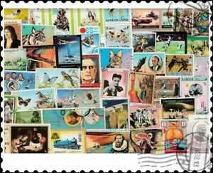 Ajman : 200 Different Stamps Collection