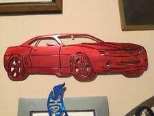 Kandy Red 2010 Camaro metal man cave sign garage art  Chevrolet