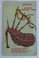 Vintage Coloured Postcard - NOVELTY PULL-OUT from DUNOON - Scotland 1914