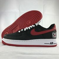 Nike Air Force 1 One Low Retro Chi-Town Black Red White 845053-001 Men's 8.5-11