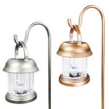 6 Outdoor Brass / Copper Color 2 LED Solar Hanging Landscape Path Lights Lantern