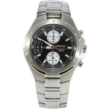 Seiko Criteria SNN129 P1 Silver Black Dial Men's Chronograph Quartz Watch