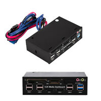 "5.25"" Media Dashboard Multi-Function Front Panel Card Reader USB 2.0&USB 3.0 UK"