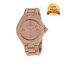 NEW MICHAEL KORS CAMILLE MK5862 ROSE GOLD PAVE CRYSTAL GLITZ WOMEN'S WATCH GIFT