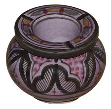 Moroccan Ashtray Handmade For Cigarette Outside Patio Smoke-less Small Purple