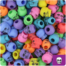 150 Circus Mix Colors Antique 11mm Halloween Skull Pony Beads Made in the USA
