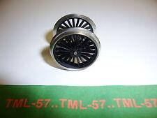 Roue JOUEF HO Essieu loco vapeur diam 21 mm noire vrais rayons - sans maneton