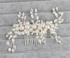 Cristal Peineta Perlas Accesorios de Boda Estrás para Pelo 1 Pieza