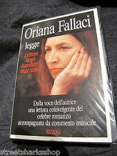 4 Audio cassette libro Oriana fallaci legge Lettera a un bambino mai nato 1993