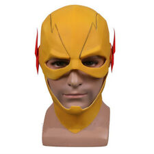 The Flash Mask Yellow Reverse Flash Latex Mask Cosplay Halloween Party Props