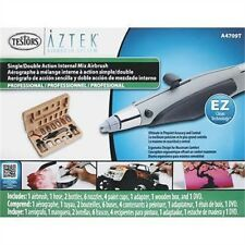 Professional Internal Mix Dual Action Airbrush Set - Aztec A470 Deluxe