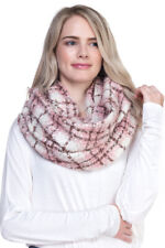 ScarvesMe Women's Check and Plaid Soft Infinity Loop Winter Fall Spring Warm