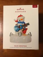Hallmark 2019 Blue Christmas Snowman Music Magic Christmas Ornament