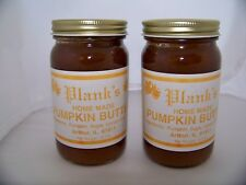 Planks Home Made Pumpkin Butter Spread Amish Country 8.5 OZ. ea. (2 Jars)