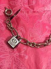 $58 Brighton My Flat In London Love Silver Tone Chain Bracelet