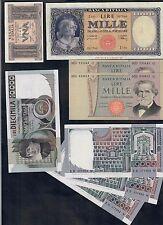 8 biglietti alta conservazione da 1 lira a 10000 lire con rari LOTTO 307