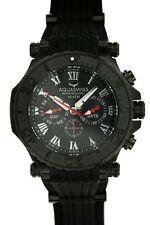 AQUASWISS Mens Black Dial Silicone Strap 45mm Watch 133445