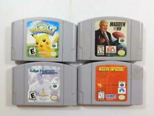 LOT OF 4 NINTENDO 64 N64 GAMES TESTED PIKACHU MIA HAMM MADDEN MISSION IMPOSSIBLE