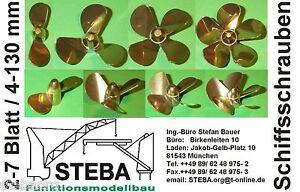 Messing Schiffsschraube 5 Blatt 20-65mm Durchmesser links/rechts  bei STEBA