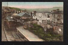 Ebbw Vale - The Railway Station - colour printed postcard