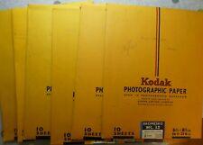 Vintage Kodak Photographic Paper - 6 Part-Used Packs of 6½ x 8½